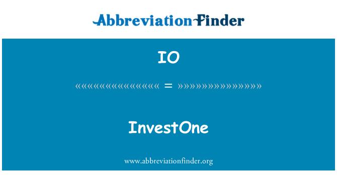 IO: InvestOne