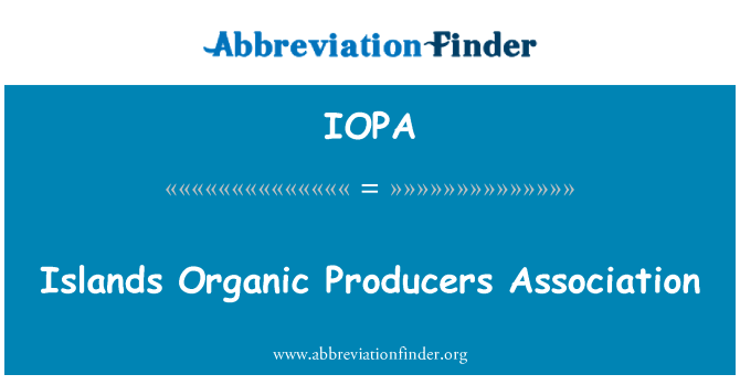 IOPA: Islands Organic Producers Association