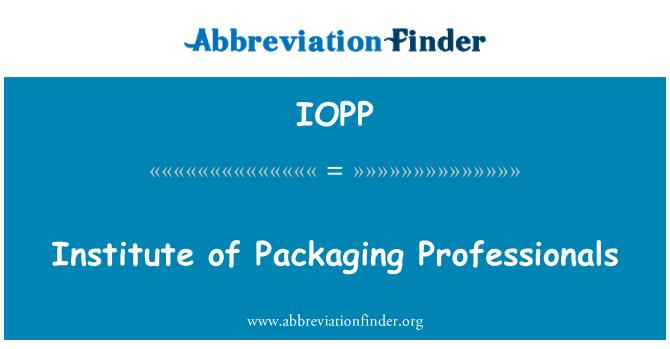 IOPP: Instituto de embalajes profesionales