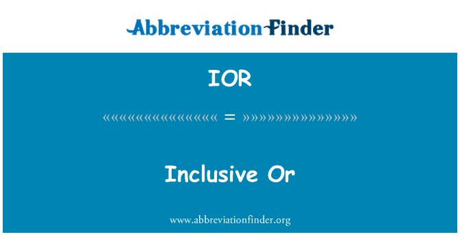IOR: Inclusive Or