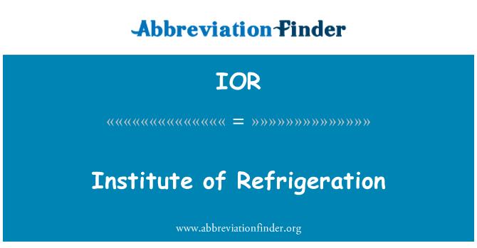 IOR: Institute of Refrigeration