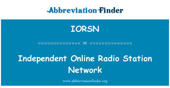 IORSN: Red de estaciones de Radio en línea independiente