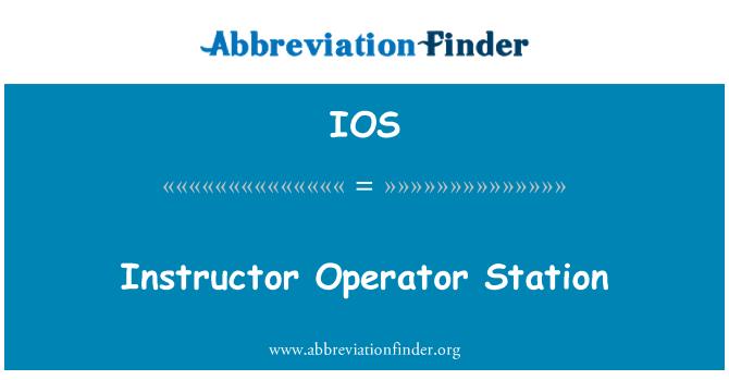 IOS: Instructor Operator Station