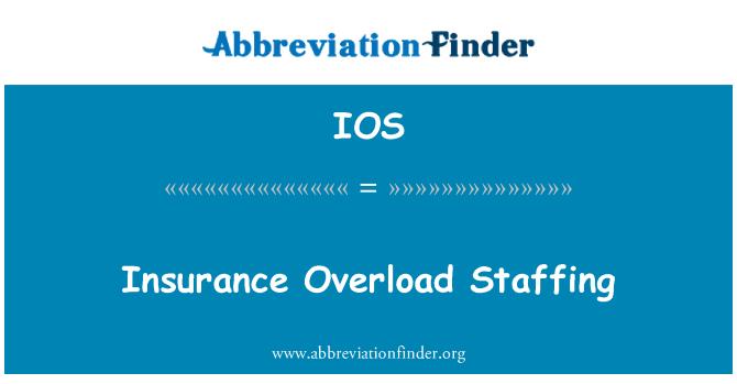 IOS: Insurance Overload Staffing