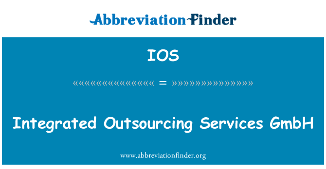 IOS: Integrated Outsourcing Services GmbH