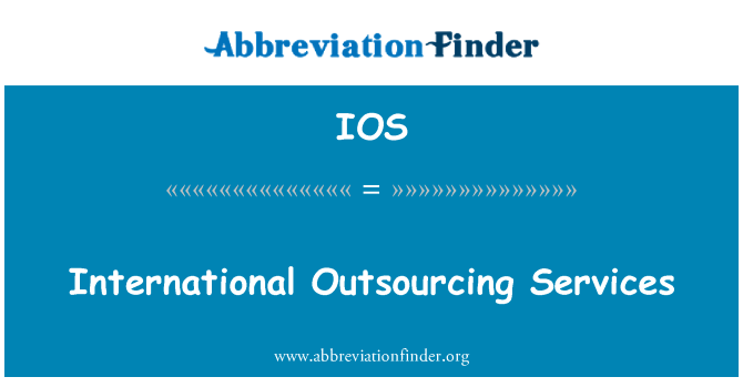 IOS: International Outsourcing Services