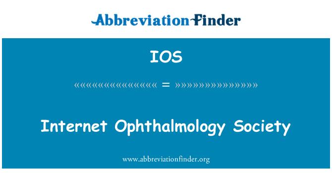 IOS: Internet Ophthalmology Society