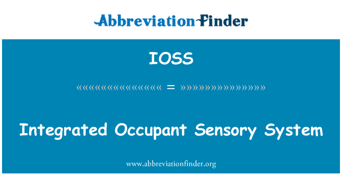 IOSS: Integrated Occupant Sensory System