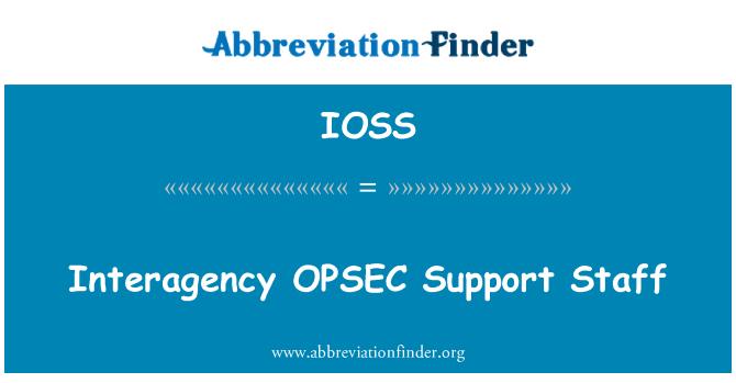 IOSS: Kurumlararası OPSEC destek personeli