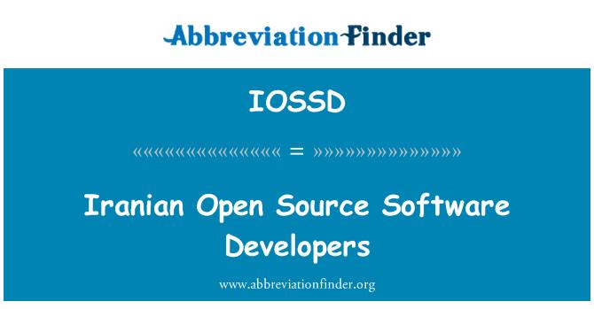 IOSSD: Iranian Open Source Software Developers