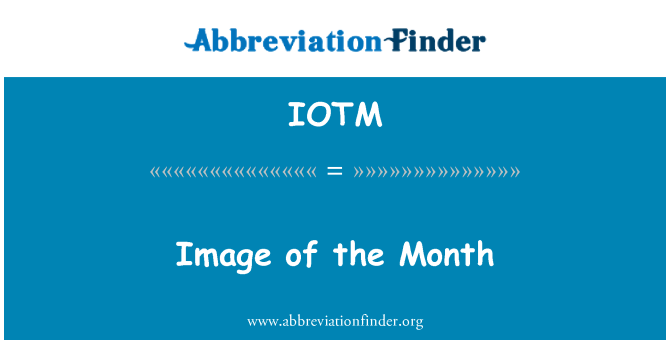 IOTM: Image of the Month