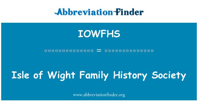 IOWFHS: Isle of Wight Family History Society