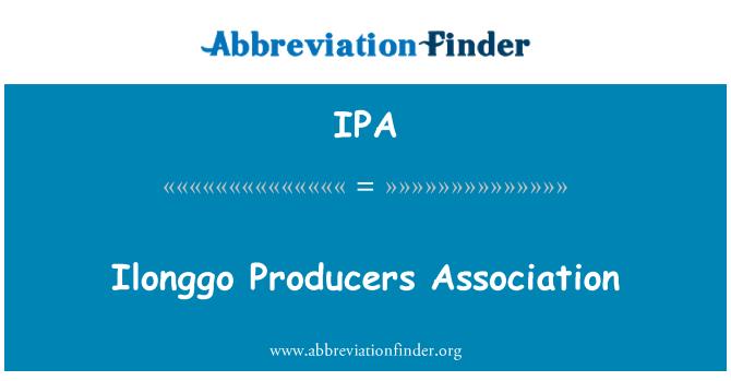 IPA: Ilonggo Producers Association