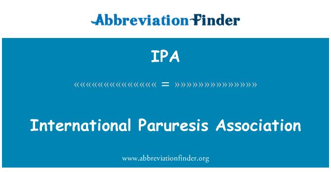 IPA: International Paruresis Association