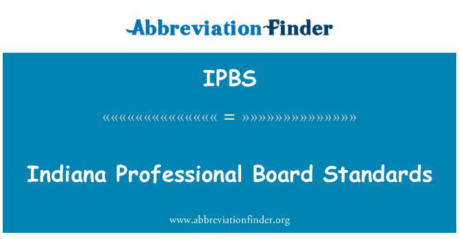 IPBS: 印第安纳州专业委员会标准