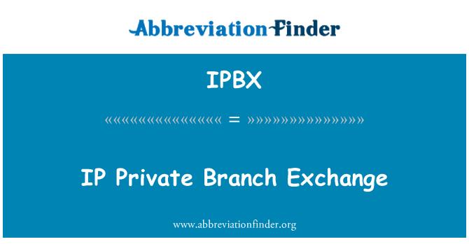 IPBX: Centralita IP privada