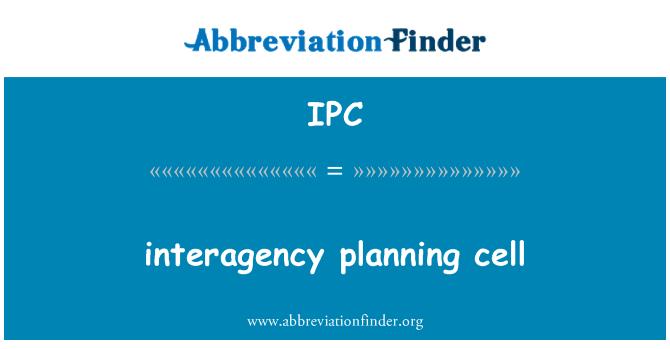 IPC: interagency planning cell