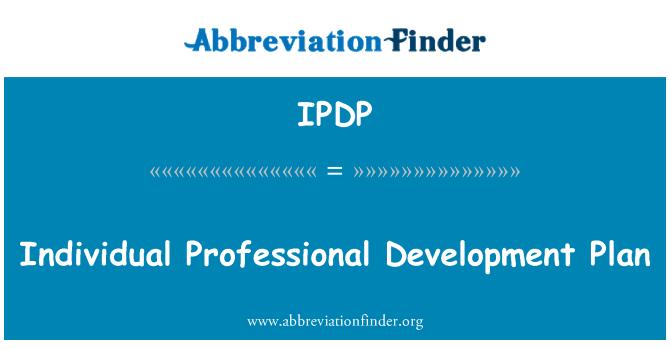 IPDP: Bireysel mesleki gelişim planı