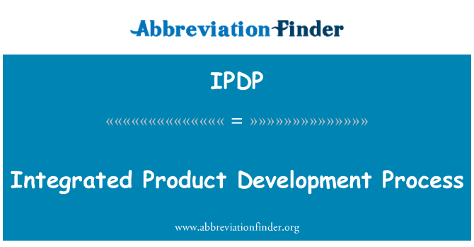 IPDP: Entegre ürün geliştirme süreci