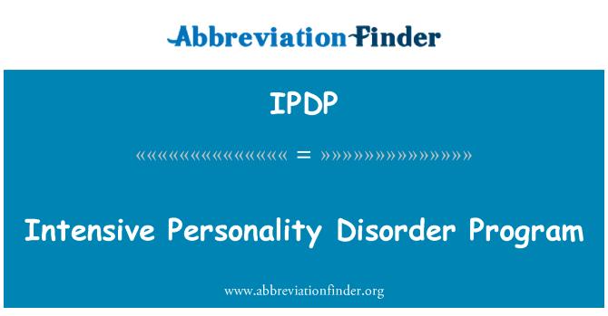 IPDP: Yoğun kişilik bozukluğu programı