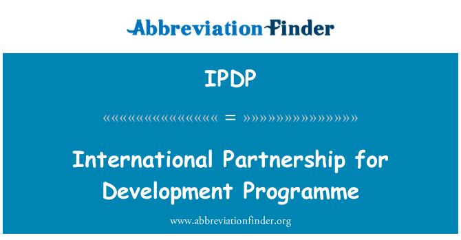 IPDP: Uluslararası Ortaklık geliştirme programı