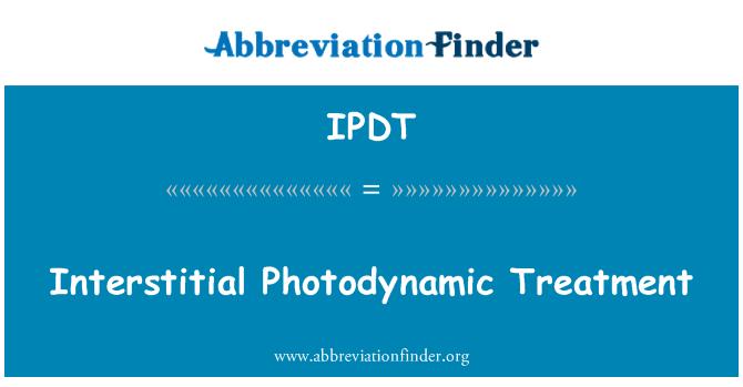 IPDT: Interstitial Photodynamic Treatment