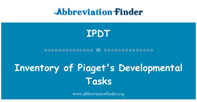 IPDT: Inventory of Piaget's Developmental Tasks