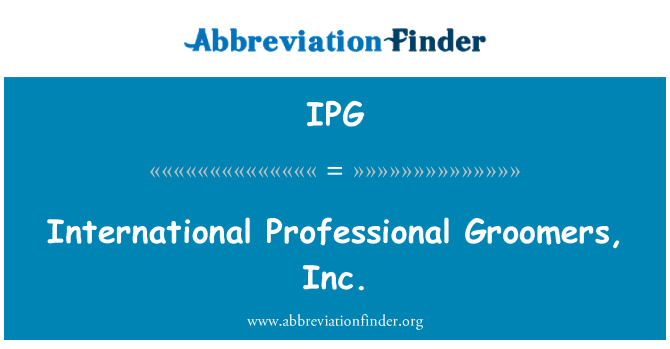 IPG: International Professional Groomers, Inc.
