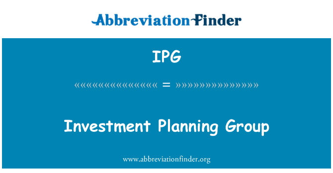 IPG: Investment Planning Group