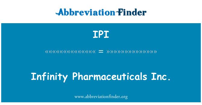 IPI: Infinity Pharmaceuticals Inc.