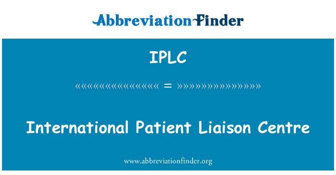 IPLC: Uluslararası hasta irtibat merkezi