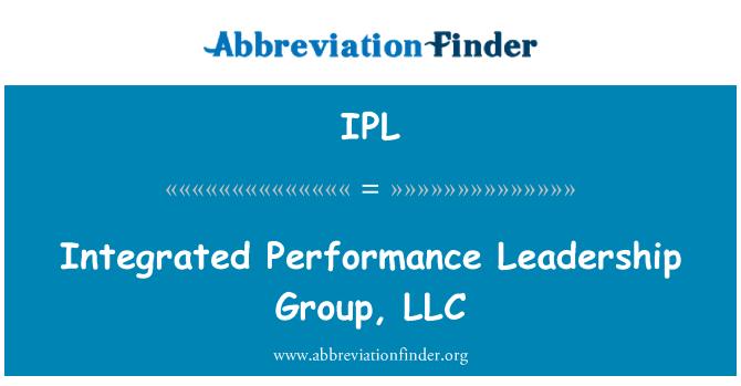 IPL: Integrated Performance Leadership Group, LLC