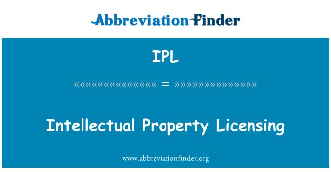 IPL: Intellectual Property Licensing