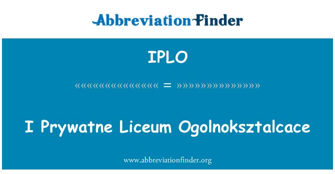 IPLO: Ben Prywatne Liceum Ogolnoksztalcace