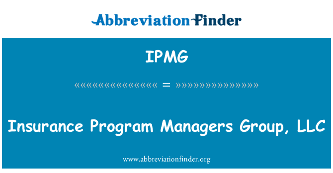 IPMG: Insurance Program Managers Group, LLC