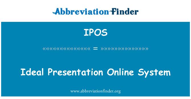 IPOS: Ideálne prezentácie on-line systém