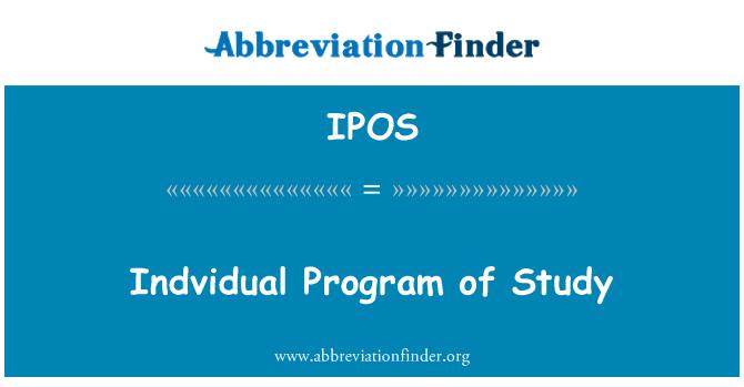 IPOS: Indvidual Program of Study
