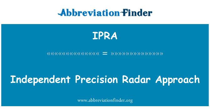 IPRA: Sõltumatu Precision lähenemise