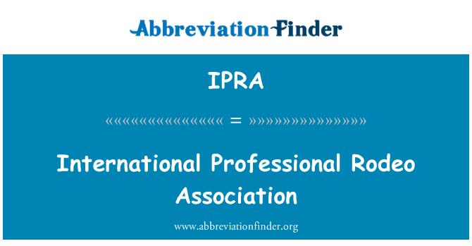 IPRA: Asociación de Rodeo profesional internacional