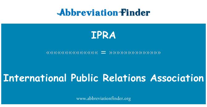 IPRA: Rahvusvaheline avalike suhete Assotsiatsioon