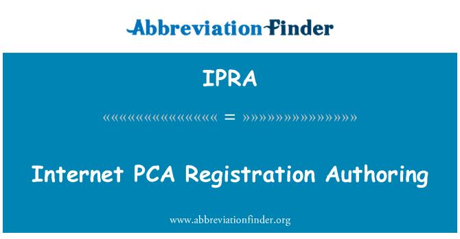 IPRA: Interneti PKL registreerimise Authoring