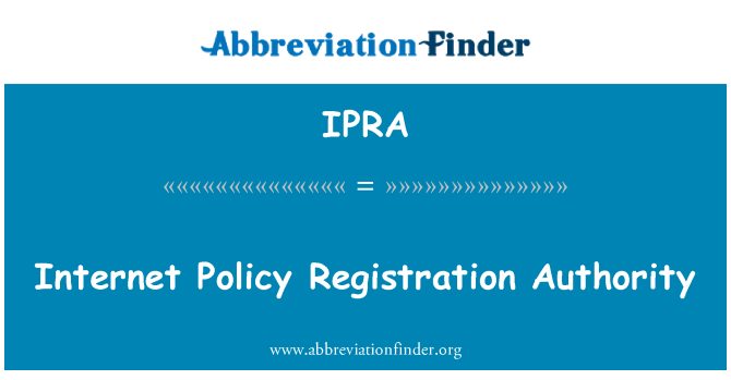 IPRA: Autoridad de registro de directiva de Internet