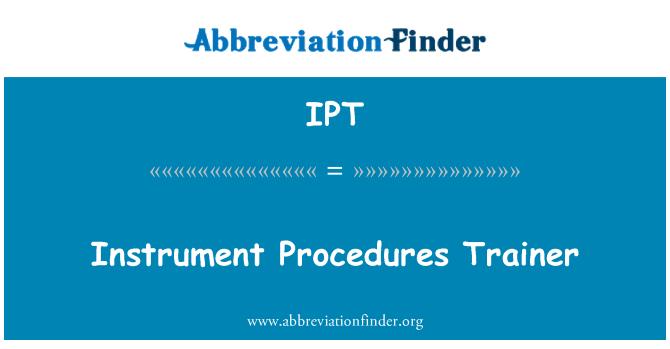 IPT: Instrument Procedures Trainer