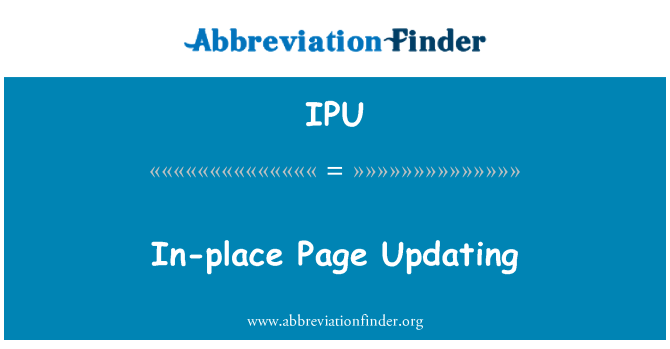 IPU: In-place Page Updating
