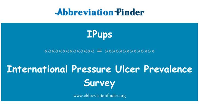 IPups: 国际压力溃疡患病率调查