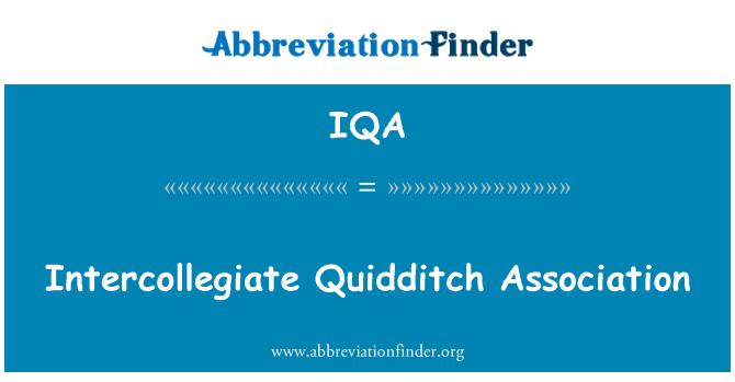 IQA: Asociación Intercolegial de Quidditch