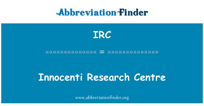 IRC: Innocenti Research Centre