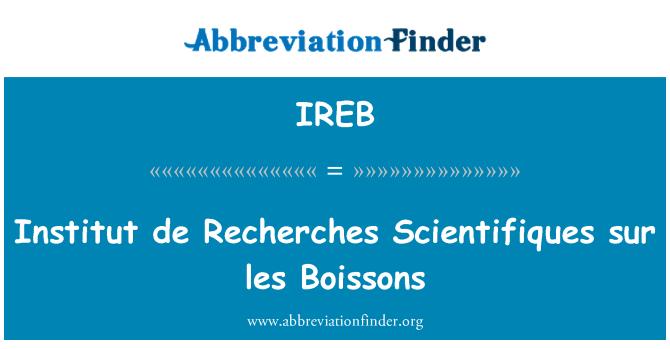 IREB: Institut de Recherches Scientifiques sur les Boissons