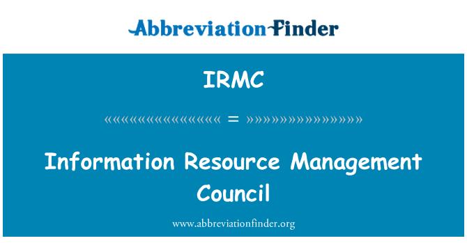 IRMC: Majlis pengurusan sumber maklumat