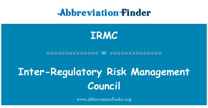 IRMC: Svet za upravljanje inter-Regulatory tveganja
